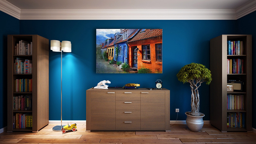 Cách phối màu trong thiết kế nội thất Apartment-architecture-bookcase-271816